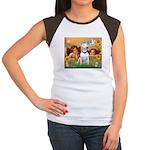 Angels & Bull Terrier #1 Women's Cap Sleeve T-Shir