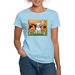Angels & Bull Terrier #1 Women's Light T-Shirt