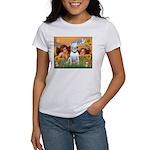Angels & Bull Terrier #1 Women's T-Shirt