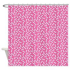 Dog Bone Pink Shower Curtain