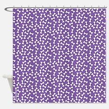 Dog Bone PURPLE Shower Curtain