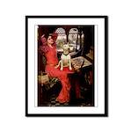 The Lady's Bull Terrier Framed Panel Print