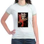 The Lady's Bull Terrier Jr. Ringer T-Shirt