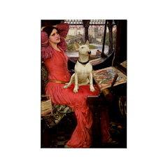 The Lady's Bull Terrier Rectangle Magnet (10 pack)