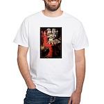 The Lady's Bull Terrier White T-Shirt
