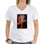 The Lady's Bull Terrier Women's V-Neck T-Shirt