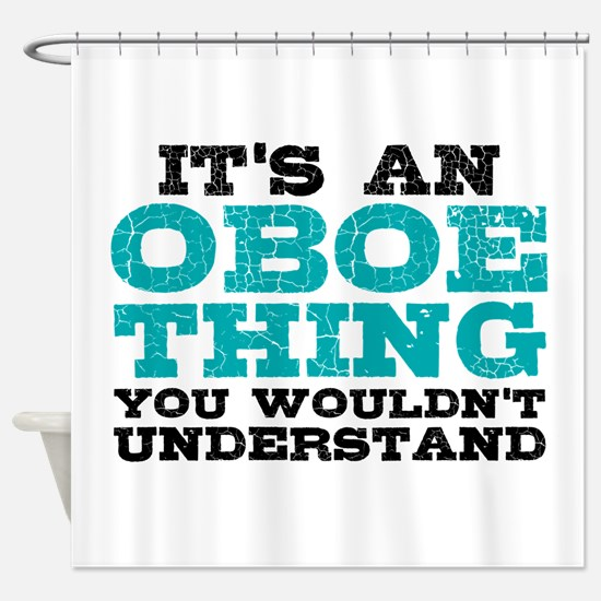 Oboe Thing Shower Curtain