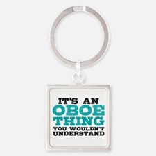 Oboe Thing Square Keychain