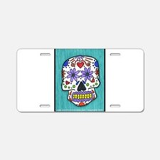 Skull Design Aluminum License Plate