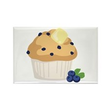 Blueberry Muffin Magnets