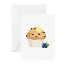 Blueberry Muffin Greeting Cards
