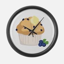 Blueberry Muffin Large Wall Clock