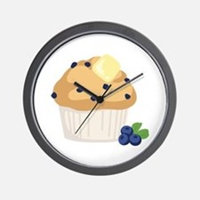 Blueberry Muffin Wall Clock