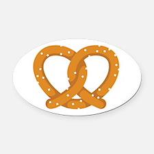 Pretzel Oval Car Magnet