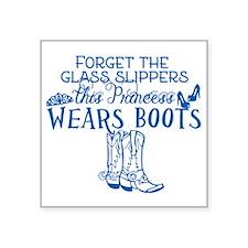 """Princess in Boots Square Sticker 3"""" x 3"""""""