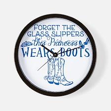 Princess in Boots Wall Clock