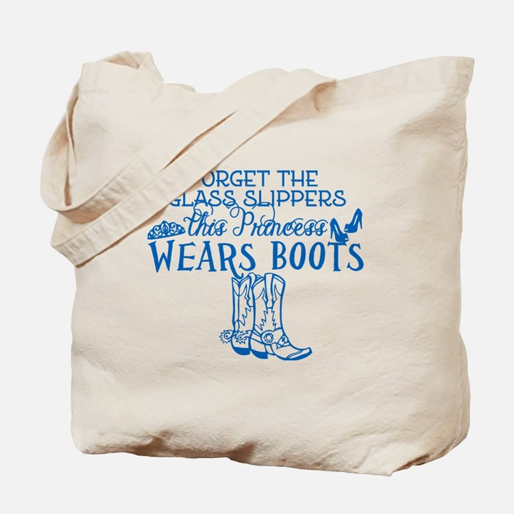Princess in Boots Tote Bag