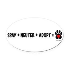 Cute Spay Oval Car Magnet