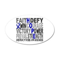 Histiocytosis Hope Collage 20x12 Oval Wall Decal