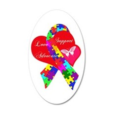 Interlaced Autism Ribbon Wall Decal