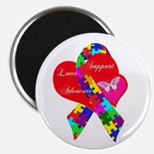 "Interlaced Autism Ribbon 2.25"" Magnet (100 pack)"