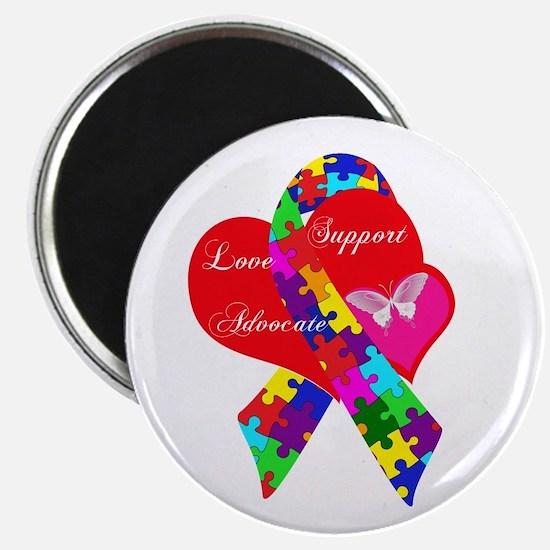 Interlaced Autism Ribbon Magnet