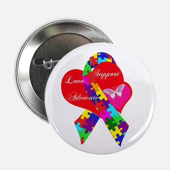 "Interlaced Autism Ribbon 2.25"" Button"