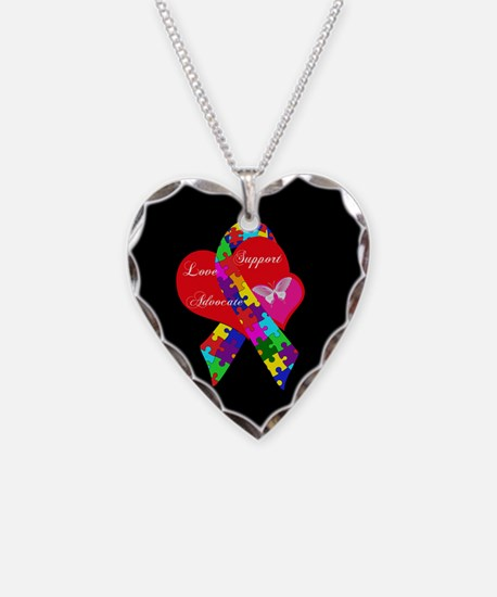 Interlaced Autism Ribbon Necklace