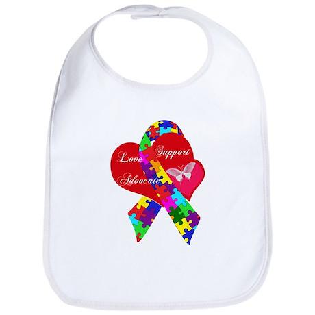 Interlaced Autism Ribbon Bib