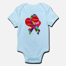 Interlaced Autism Ribbon Infant Bodysuit
