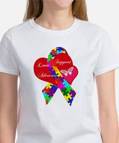 Interlaced Autism Ribbon Women's T-Shirt