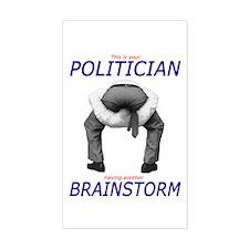 Politician's Brainstorm Rectangle Decal