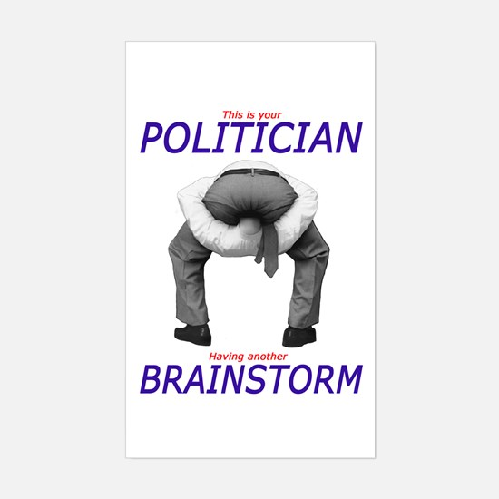Politician's Brainstorm Rectangle Decal