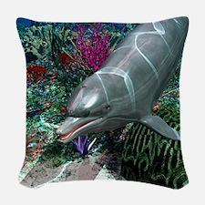 Dolphins Woven Throw Pillow