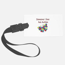 Someone I love has Autism (red) Luggage Tag