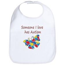 Someone I love has Autism (red) Bib