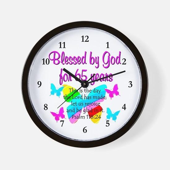 65TH BLESSINGS Wall Clock
