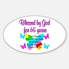 65TH BLESSINGS Sticker (Oval)