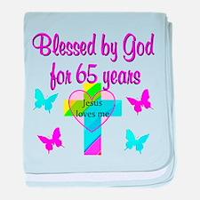 JESUS LOVE 65TH baby blanket