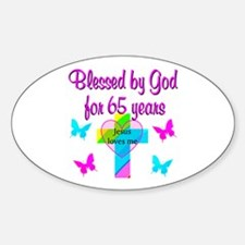 JESUS LOVE 65TH Decal