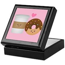 Cute Coffee and Donut in Love, Perfect Pair Keepsa
