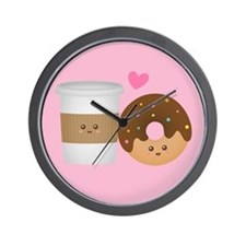 Cute Coffee and Donut in Love, Perfect Pair Wall C