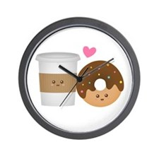 Donut-and-Coffee-love Wall Clock