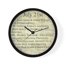 July 21st Wall Clock