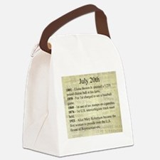 July 20th Canvas Lunch Bag
