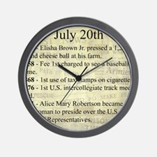 July 20th Wall Clock