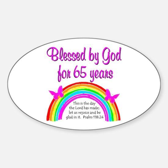 65TH GODS GRACE Sticker (Oval)