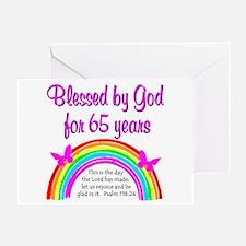 65TH GODS GRACE Greeting Card