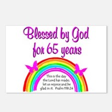 65TH GODS GRACE Postcards (Package of 8)