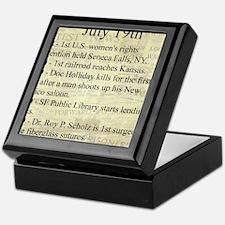 July 19th Keepsake Box
